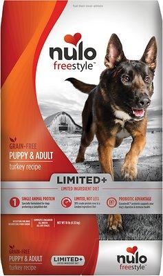 Nulo Dog Freestyle Limited+ Turkey Recipe Grain-Free Puppy & Adult Dry Dog Food, 10-lb bag