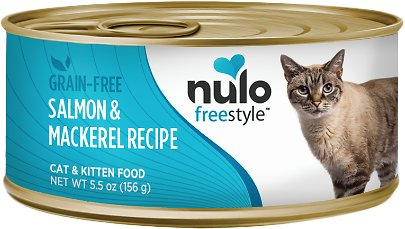 Nulo Cat Freestyle Pate Salmon & Mackerel Recipe Grain-Free Canned Cat & Kitten Food, 5.5-oz