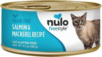 Nulo Cat Freestyle Pate Salmon & Mackerel Recipe Grain-Free Canned Cat & Kitten Food, 12.5-oz