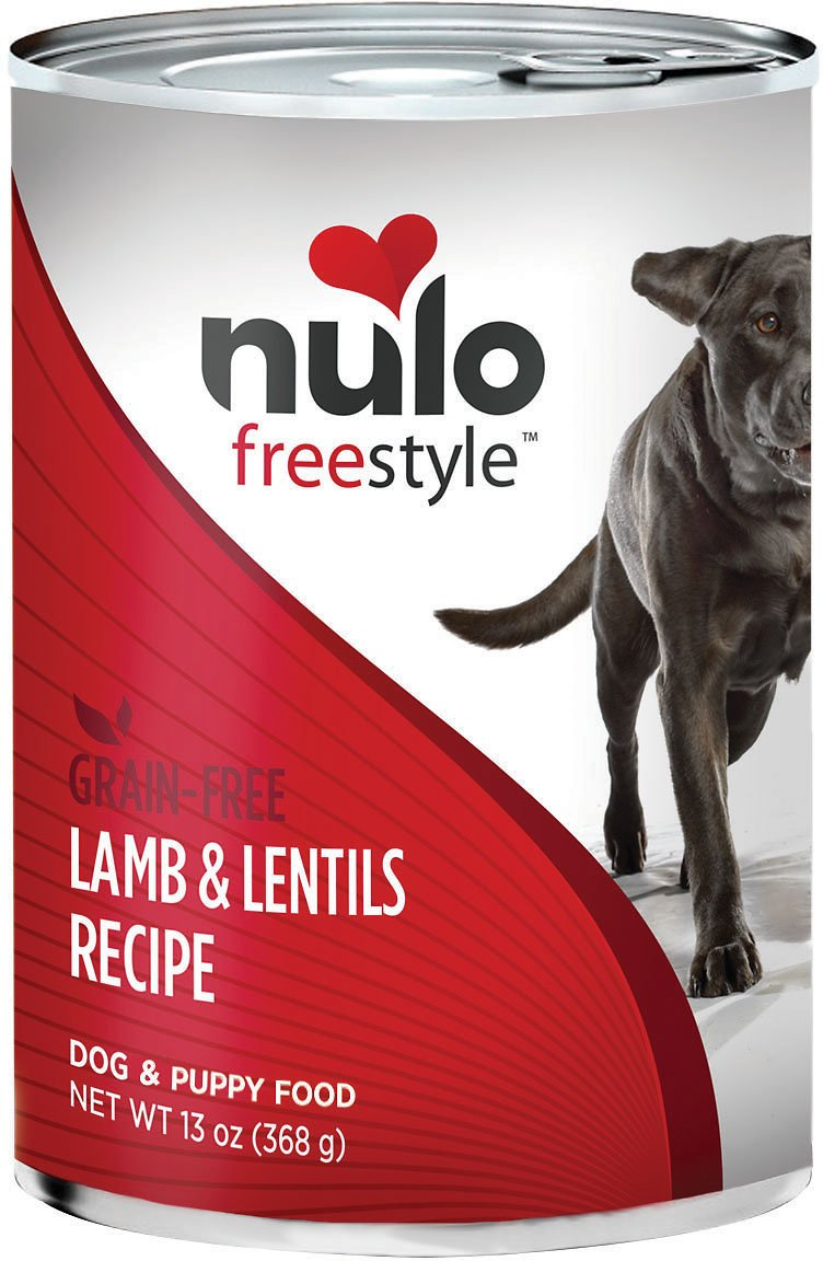 Nulo Dog Freestyle Pate Lamb & Lentils Recipe Grain-Free Canned Dog Food, 13-oz