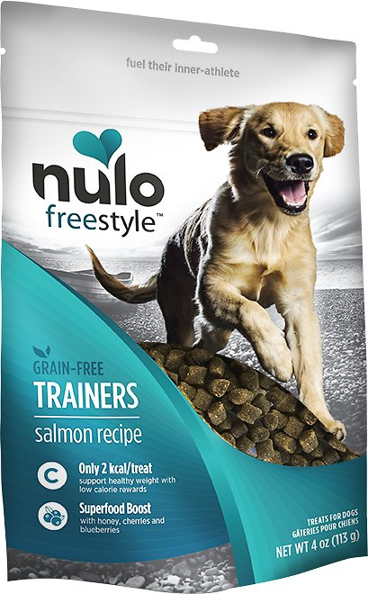 Nulo Dog Freestyle Grain-Free Salmon Recipe Dog Training Treats, 4-oz bag