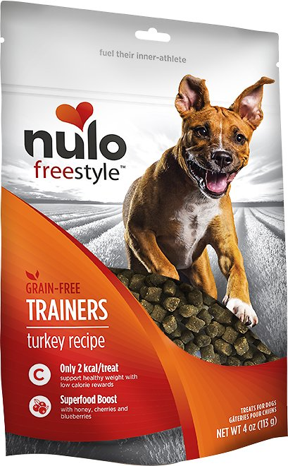 Nulo Dog Freestyle Grain-Free Turkey Recipe Dog Training Treats, 4-oz bag