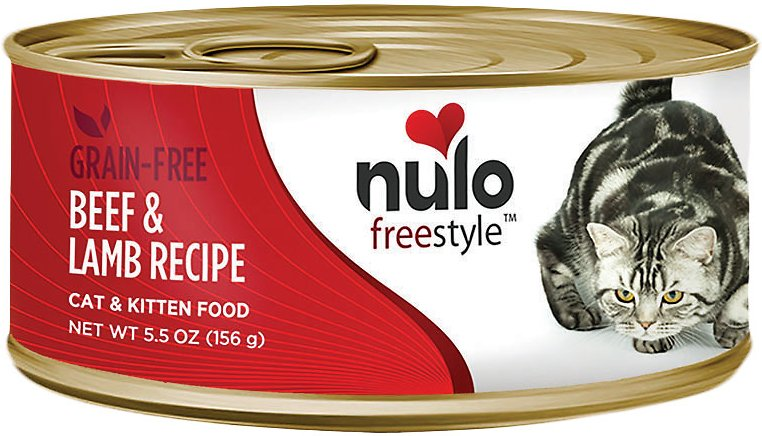 Nulo Cat Freestyle Pate Beef & Lamb Recipe Grain-Free Canned Cat & Kitten Food, 5.5-oz,case of 24