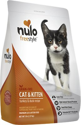 Nulo Cat FreeStyle Turkey & Duck Recipe Grain-Free Dry Cat & Kitten Food, 5-lb bag