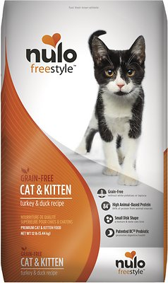 Nulo Cat FreeStyle Turkey & Duck Recipe Grain-Free Dry Cat & Kitten Food, 12-lb bag