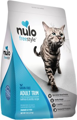 Nulo Cat Freestyle Salmon & Lentils Recipe Grain-Free Adult Trim Dry Cat Food, 5-lb bag Size: 5-lb bag, Weights: 5.0 pounds
