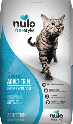 Nulo Cat Freestyle Salmon & Lentils Recipe Grain-Free Adult Trim Dry Cat Food, 12-lb bag