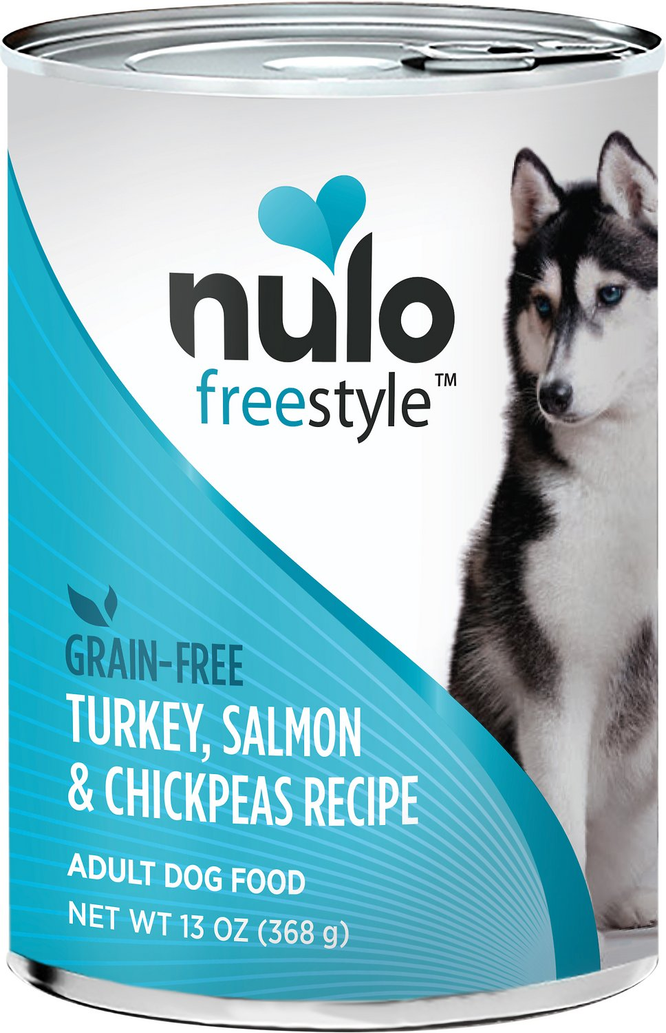 Nulo Dog Freestyle Pate Salmon & Chickpeas Recipe Grain-Free Canned Dog Food, 13-oz