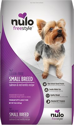 Nulo Dog FreeStyle Small Breed Salmon & Red Lentils Recipe Grain-Free Dry Dog Food, 11-lb bag