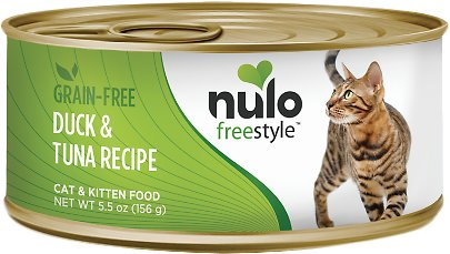 Nulo Cat Freestyle Pate Duck & Tuna Recipe Grain-Free Canned Cat & Kitten Food, 5.5-oz