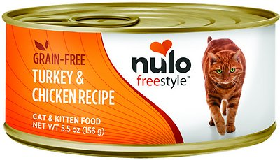 Nulo Cat Freestyle Pate Turkey & Chicken Recipe Grain-Free Canned Cat & Kitten Food, 5.5-oz, case of 24