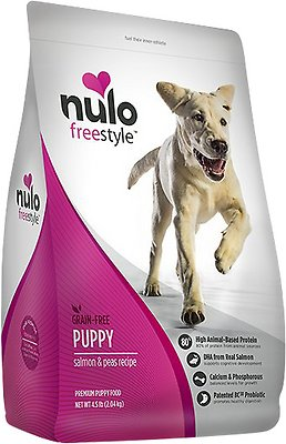 Nulo Dog Freestyle Salmon & Peas Recipe Grain-Free Puppy Dry Dog Food, 4.5-lb bag
