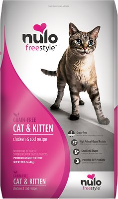 Nulo Cat Freestyle Chicken & Cod Recipe Grain-Free Dry Cat & Kitten Food, 12-lb bag
