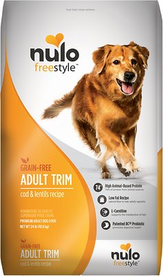 Nulo Dog Freestyle Cod & Lentils Recipe Grain-Free Adult Trim Dry Dog Food, 24-lb bag