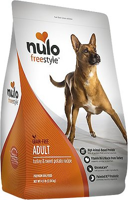 Nulo Dog Freestyle Turkey & Sweet Potato Recipe Grain-Free Adult Dry Dog Food, 24-lb bag