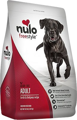 Nulo Dog Freestyle Lamb & Chickpeas Recipe Grain-Free Adult Dry Dog Food, 24-lb bag