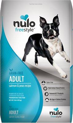 Nulo Dog Freestyle Salmon & Peas Recipe Grain-Free Adult Dry Dog Food, 11-lb bag
