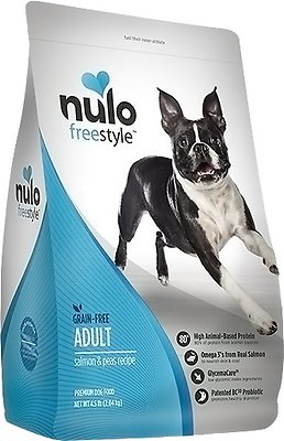 Nulo Dog Freestyle Salmon & Peas Recipe Grain-Free Adult Dry Dog Food, 4.5-lb bag