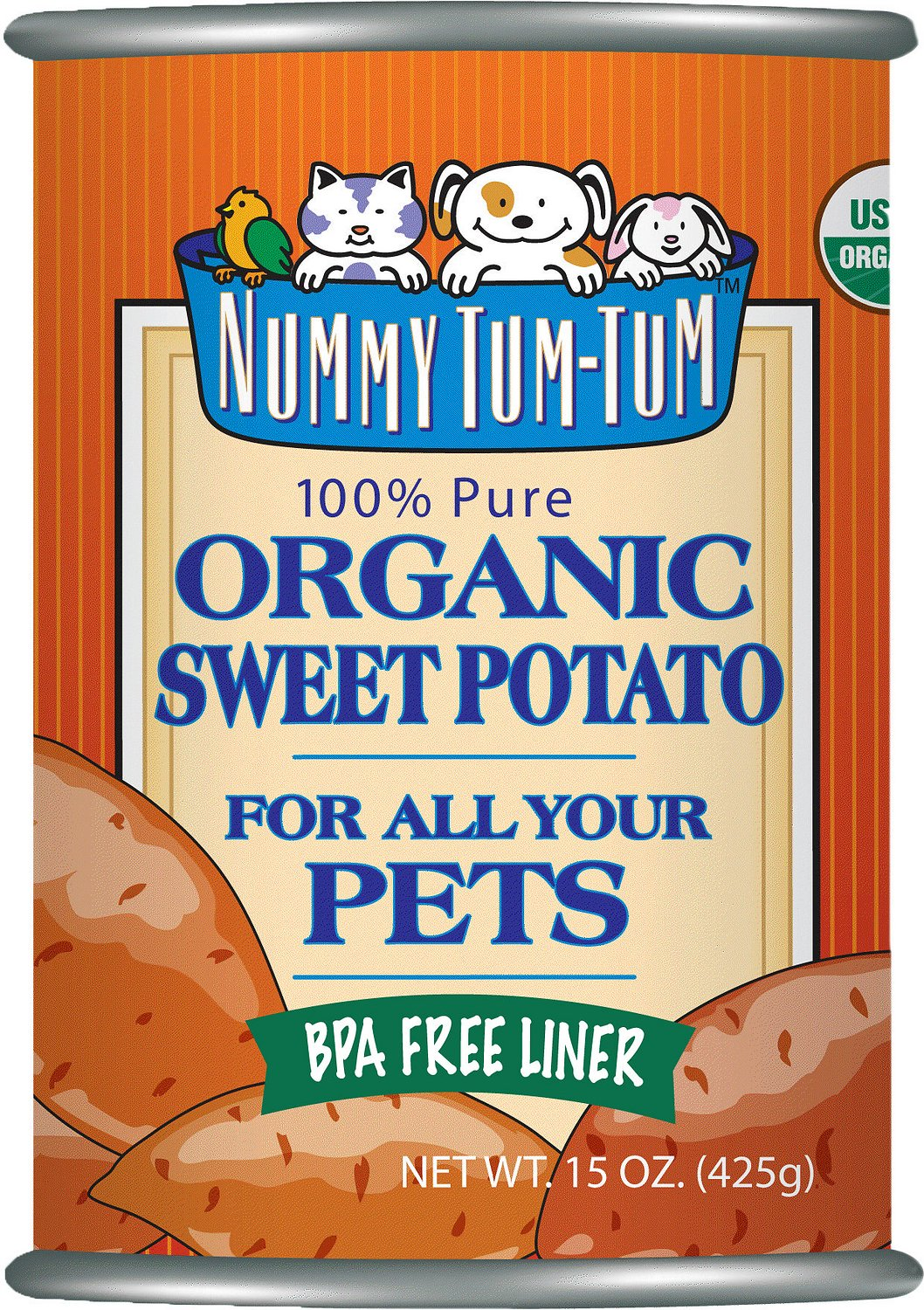 Nummy Tum-Tum Pure Organic Sweet Potato Canned Dog & Cat Food Supplement