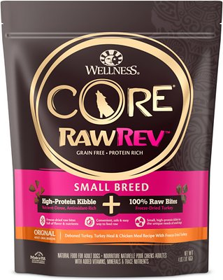Wellness CORE RawRev Natural Grain Free Original Turkey & Chicken with Freeze Dried Turkey Small Breed Dry Dog Food
