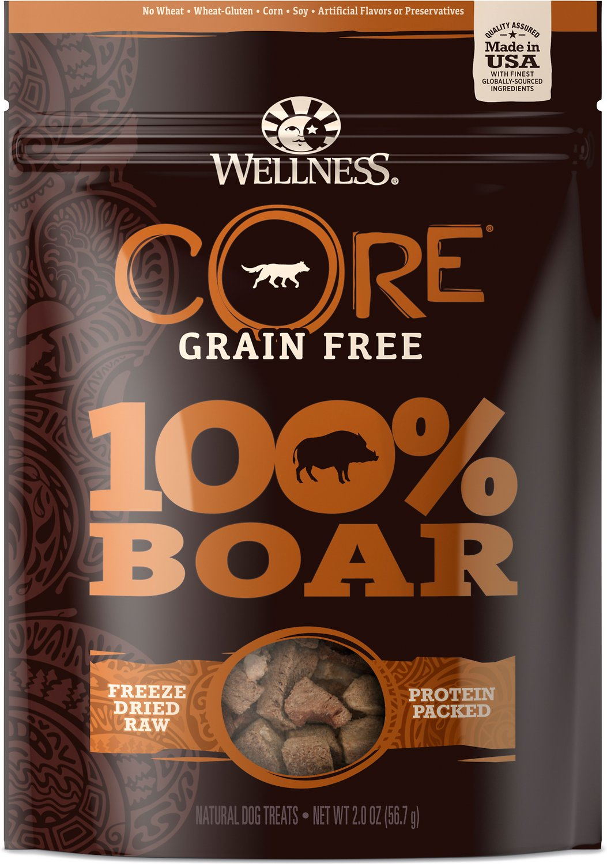 Wellness CORE Grain Free 100% Boar Freeze Dried Natural Dog Treats, 2-oz bag