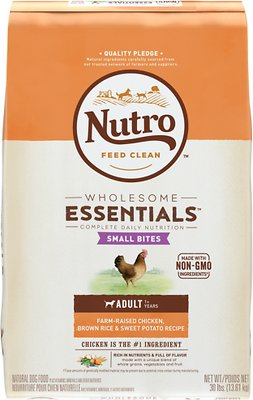 Nutro Wholesome Essentials Small Bites Adult Farm-Raised Chicken, Brown Rice & Sweet Potato Recipe