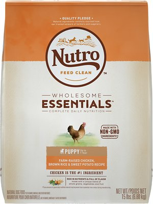 Nutro Wholesome Essentials Puppy Farm Raised Chicken, Brown Rice & Sweet Potato Recipe Dry Dog Food