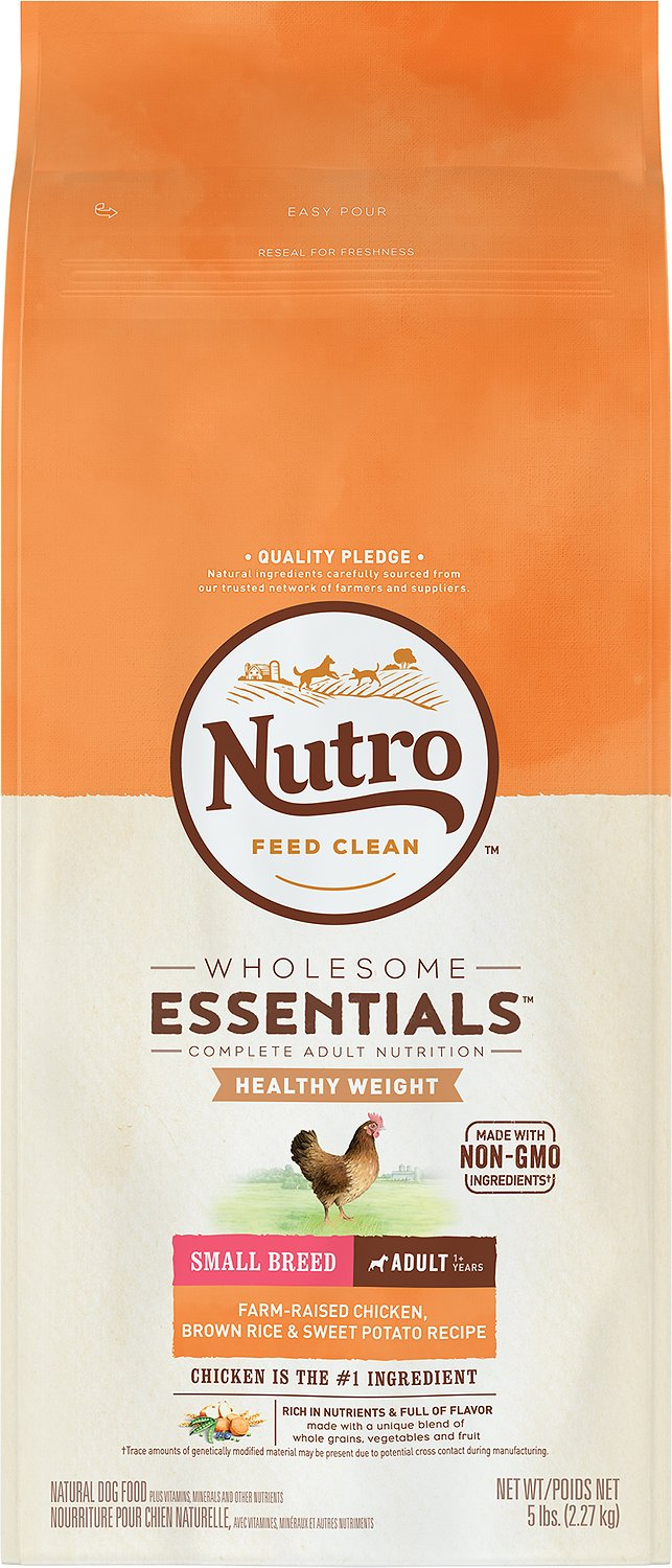 Nutro Small Breed Adult Weight Management Chicken, Brown Rice & Sweet Potato Formula Dry Dog Food, 5-lb bag