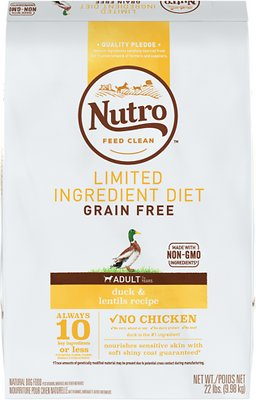 Nutro Limited Ingredient Diet Grain-Free Adult Duck & Lentils Recipe Dog Food