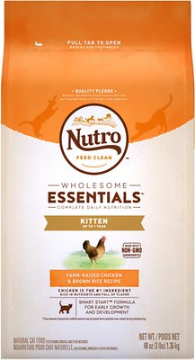 Nutro Wholesome Essentials Kitten Farm-Raised Chicken & Brown Rice Recipe Dry Cat Food