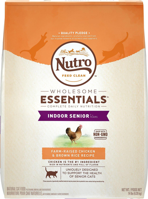 Nutro Wholesome Essentials Indoor Senior Farm-Raised Chicken & Brown Rice Recipe Dry Cat Food Image
