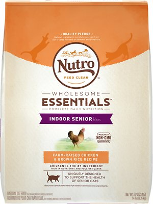 Nutro Wholesome Essentials Indoor Senior Farm-Raised Chicken & Brown Rice Recipe Dry Cat Food