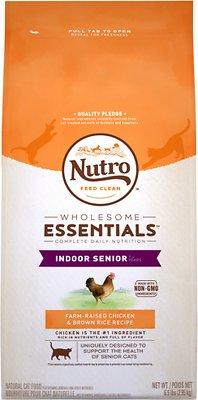 Nutro Wholesome Essentials Indoor Senior Farm-Raised Chicken & Brown Rice Recipe Dry Cat Food