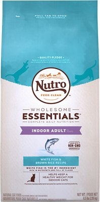 Nutro Wholesome Essentials Indoor Adult White Fish & Brown Rice Recipe Dry Cat Food