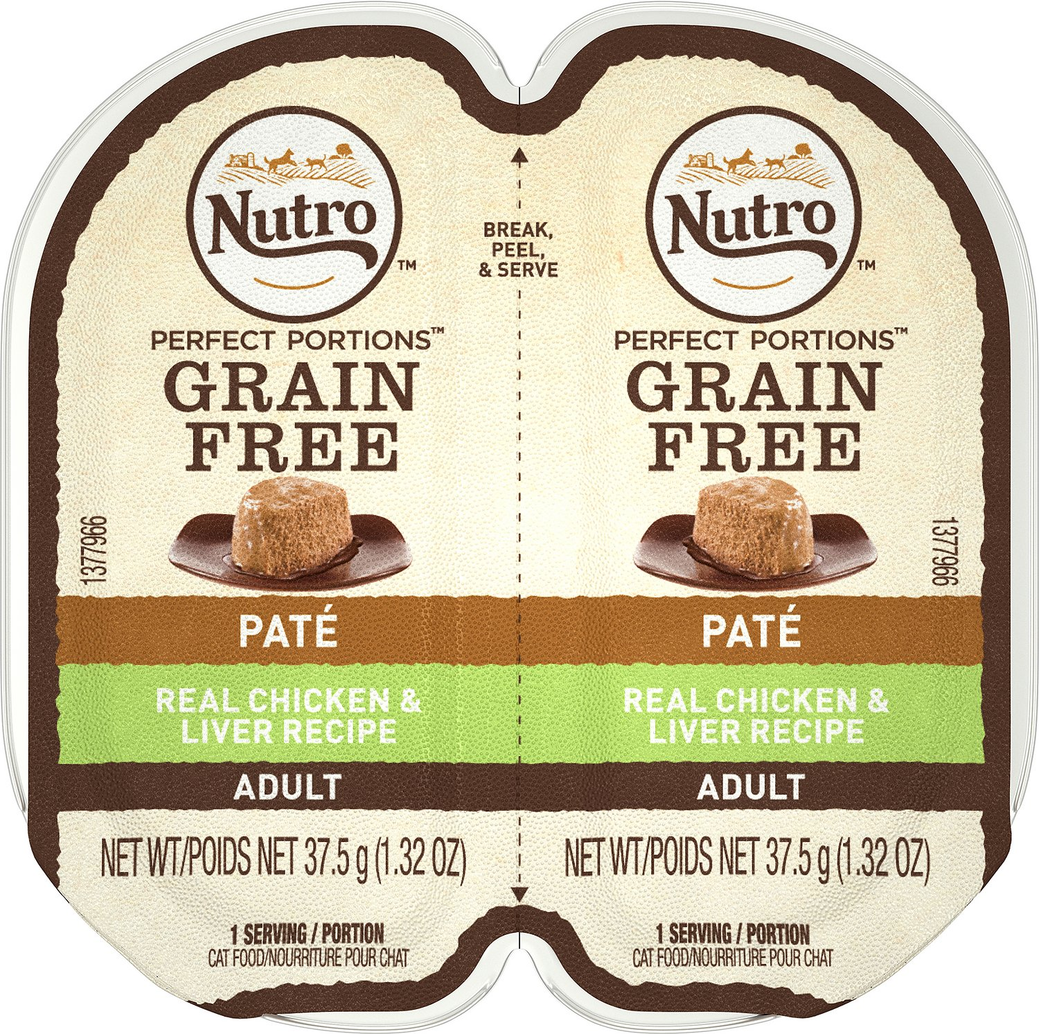 Nutro Perfect Portions Grain-Free Chicken & Liver Recipe Cat Food Trays, 2.6-oz