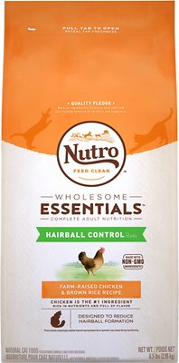 Nutro Wholesome Essentials Hairball Control Adult Farm-Raised Chicken & Brown Rice Recipe Dry Cat Food