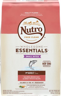 Nutro Wholesome Essentials Small Bites Adult Salmon, Brown Rice & Sweet Potato Recipe Dry Dog Food
