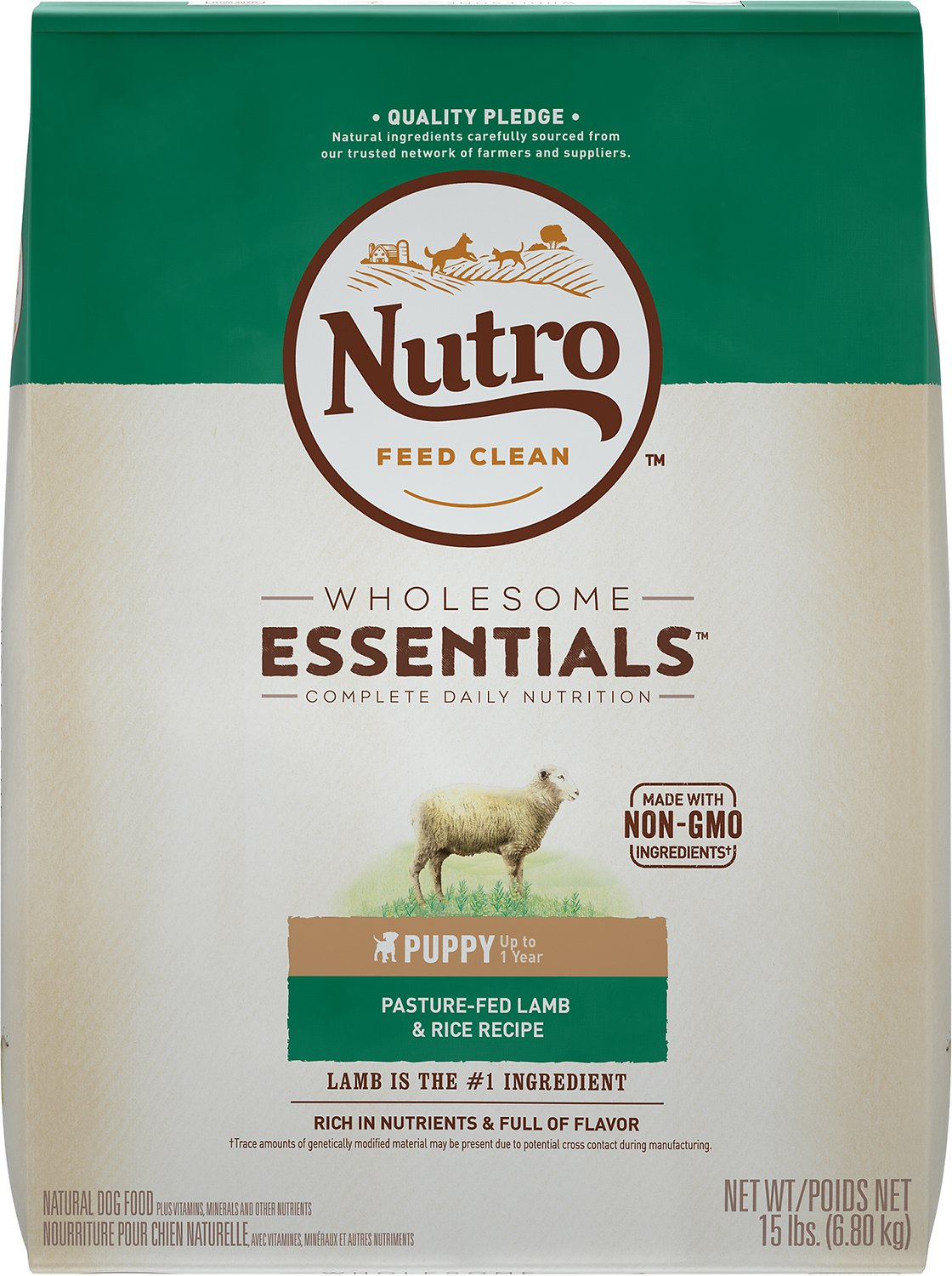 Nutro Wholesome Essentials Puppy Pasture Fed Lamb & Rice Recipe Dry Dog Food Image