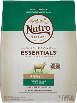 Nutro Wholesome Essentials Puppy Pasture Fed Lamb & Rice Recipe Dry Dog Food, 15-lb