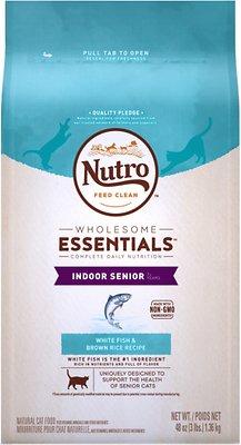 Nutro Wholesome Essentials Indoor Senior White Fish & Brown Rice Recipe Dry Cat Food