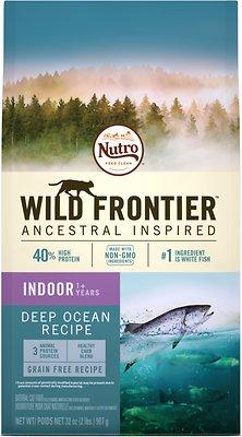 Nutro Wild Frontier Indoor Adult Deep Ocean Recipe Whitefish Flavor High-Protein Grain-Free Dry Cat Food