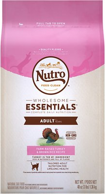 Nutro Wholesome Essentials Adult Farm-Raised Turkey & Brown Rice Recipe Dry Cat Food