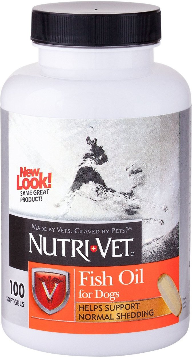 Nutri-Vet Fish Oil Dog Softgels, 100-count