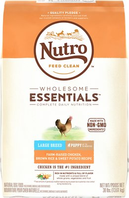 Nutro Wholesome Essentials Large Breed Puppy Farm Raised Chicken, Brown Rice & Sweet Potato Recipe Dry Dog Food