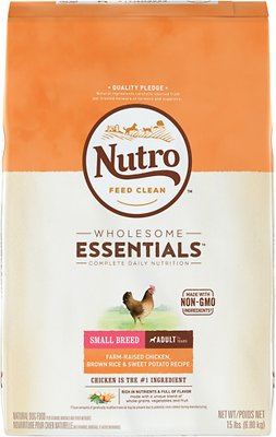 Nutro Wholesome Essentials Small Breed Adult Farm Raised Chicken, Brown Rice & Sweet Potato Recipe Dry Dog Food