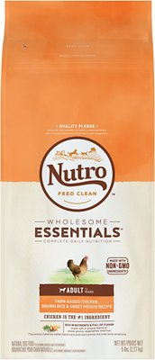 Nutro Wholesome Essentials Adult Farm Raised Chicken, Brown Rice & Sweet Potato Recipe Dry Dog Food