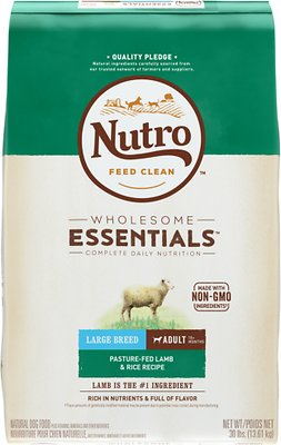 Nutro Wholesome Essentials Large Breed Adult Pasture Fed Lamb & Rice Recipe Dry Dog Food