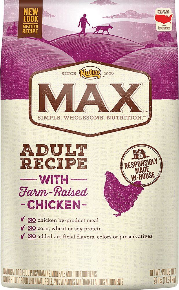 Nutro Max Adult Recipe with Farm-Raised Chicken Dry Dog Food, 25-lb bag Image