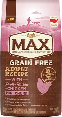 Nutro Max Grain-Free Mini Chunk Adult Recipe with Farm-Raised Chicken Dry Dog Food