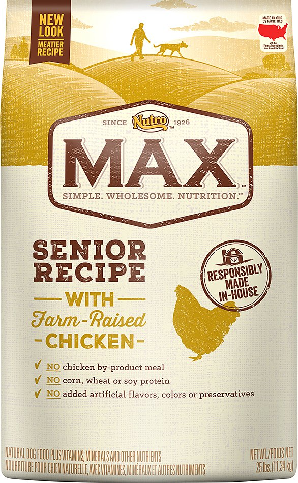 Nutro Max Senior Recipe with Farm-Raised Chicken Dry Dog Food, 25-lb bag Image